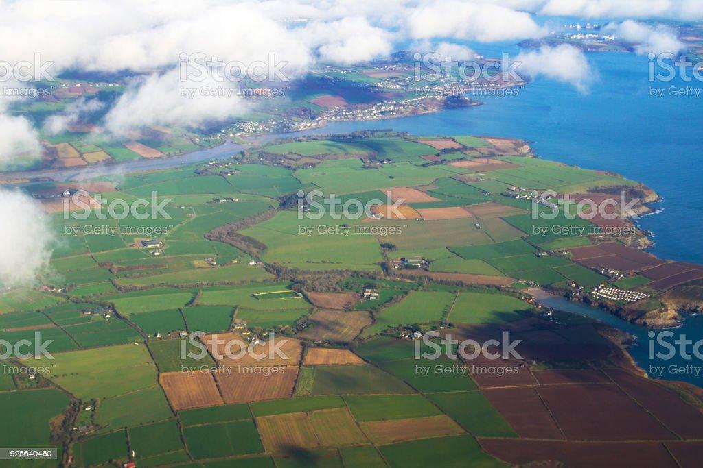 Aerial view of irish coastline – zdjęcie