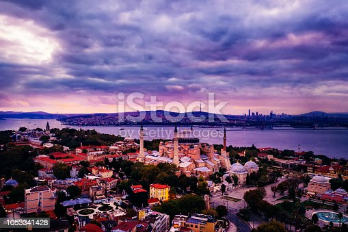 1174016297istockphoto Aerial view of Istanbul at sunrise, Turkey 1053341428