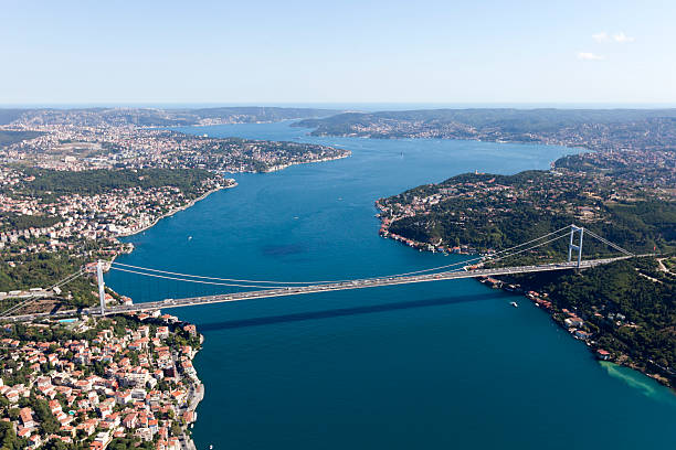 Aerial View of Istanbul City Aerial View of Istanbul City bosphorus stock pictures, royalty-free photos & images