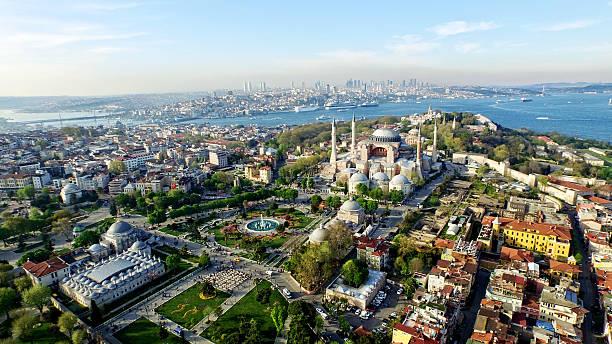 aerial view of istanbul - стамбул стоковые фото и изображения