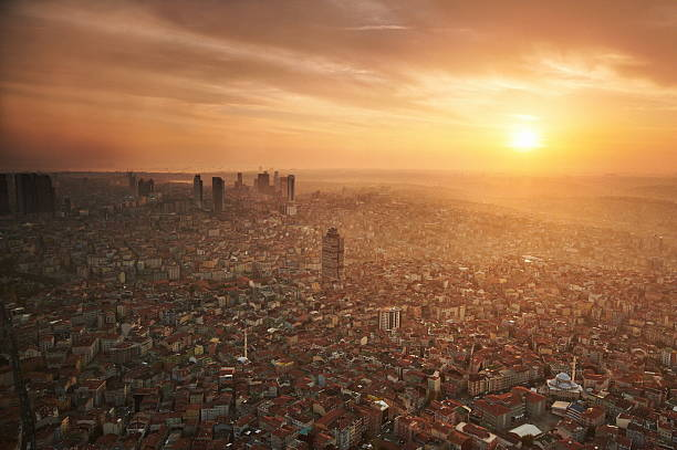 aerial view of istanbul - turkey middle east stock pictures, royalty-free photos & images