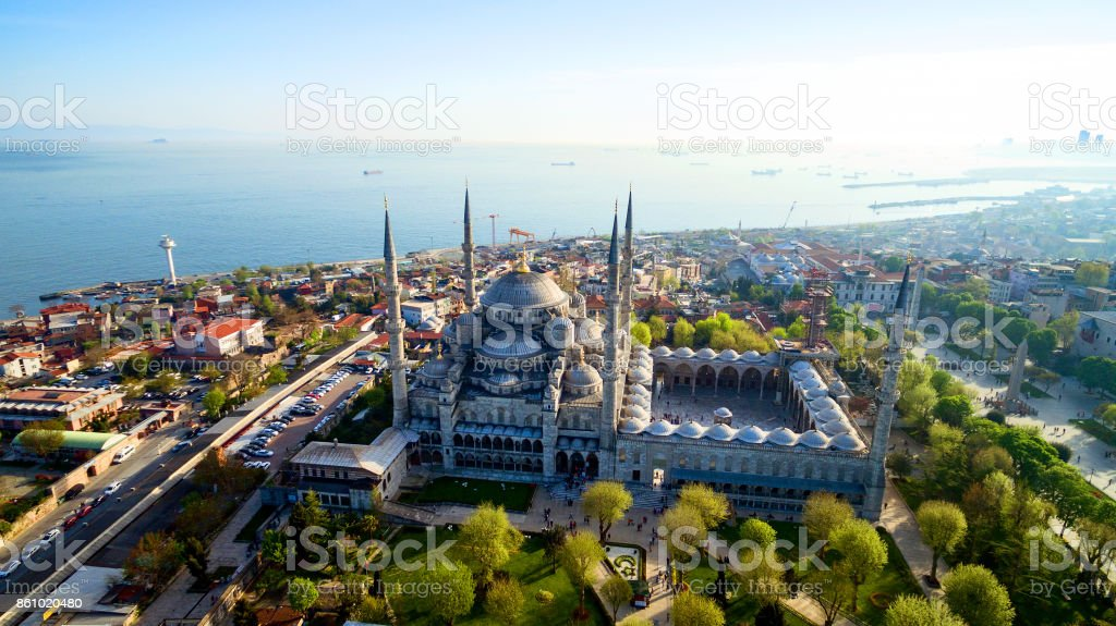 Aerial view of Istanbul, Turkey stock photo