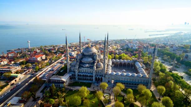 aerial view of istanbul, turkey - стамбул стоковые фото и изображения