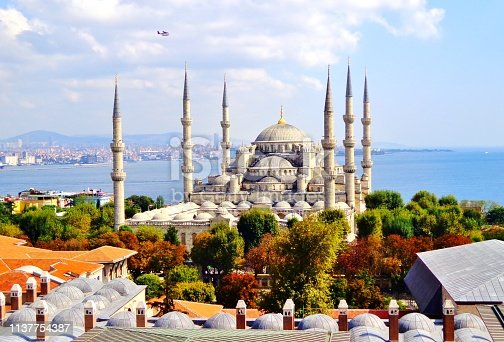 istock Aerial View of Istanbul's Historic Blue Mosque (Sultan Ahmed Mosque) 1137754387