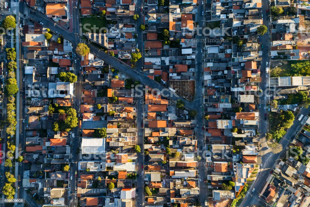 Aerial View of Itaquera District in Sao Paulo, Brazil stock photo