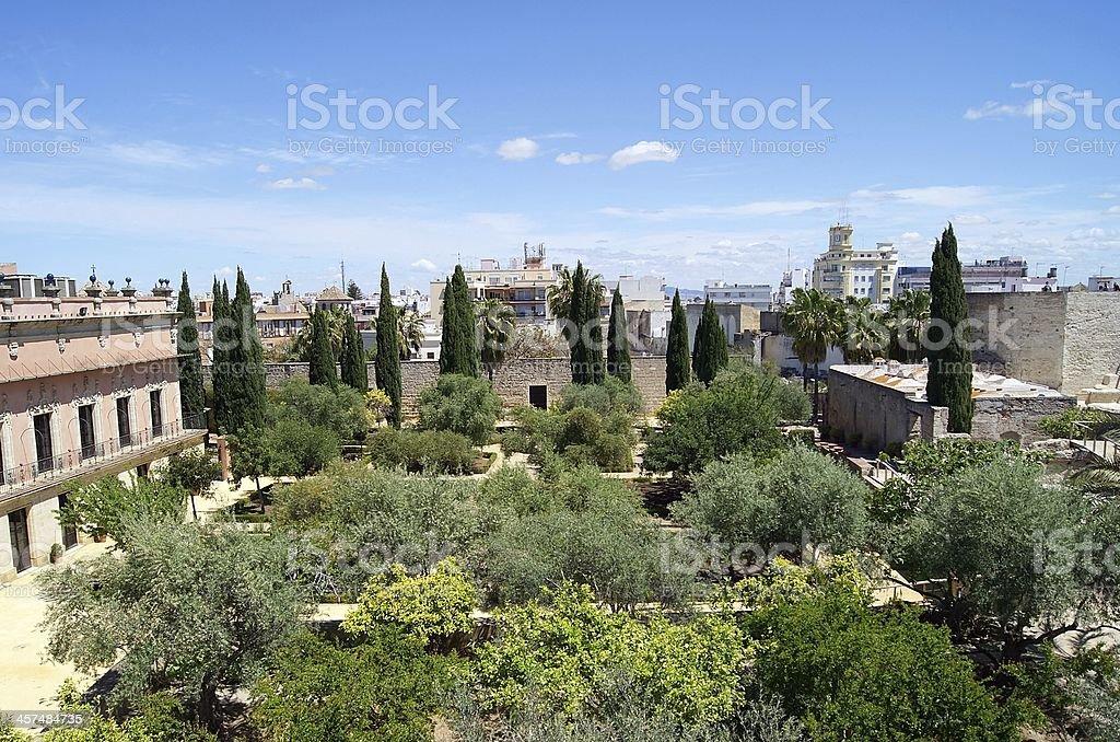Aerial view of Jerez de la Frontera stock photo