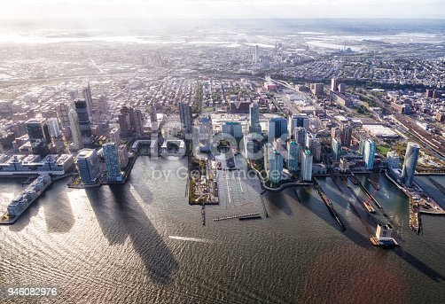 Aerial view of Jersey City