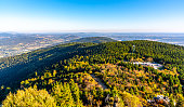 istock Aerial view of Jested ridge from Jested Mountain on sunny summer evening. Czech Republic 1138640981