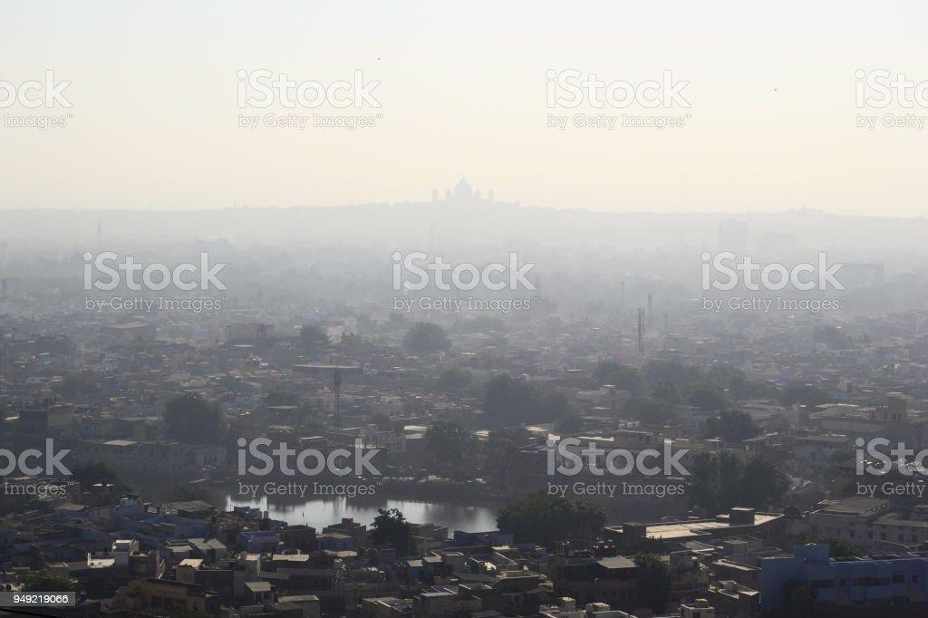 Aerial view of Jodhpur city stock photo
