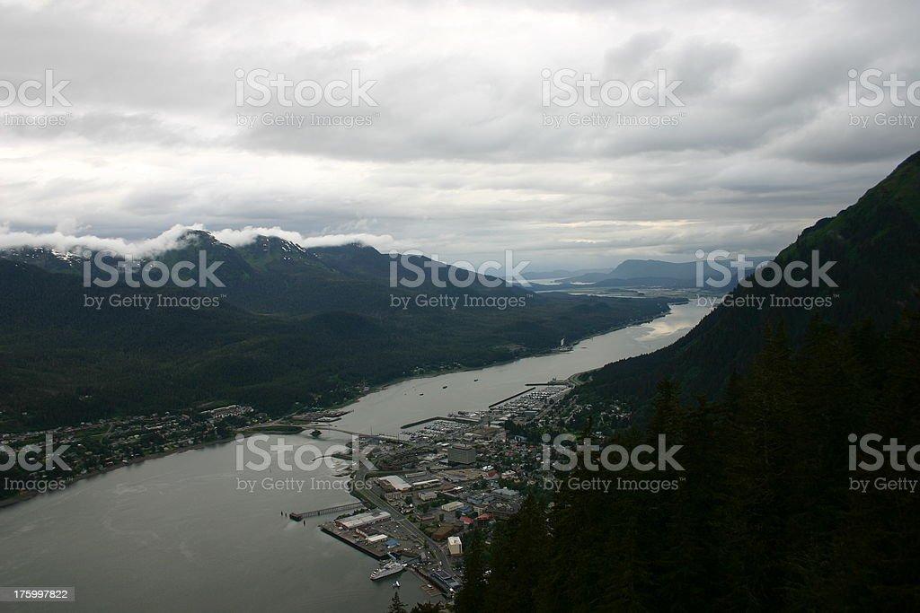 Aerial view of Juneau, Alaska royalty-free stock photo