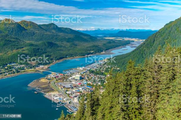 Photo of Aerial view of Juneau and the Gastineau Channel