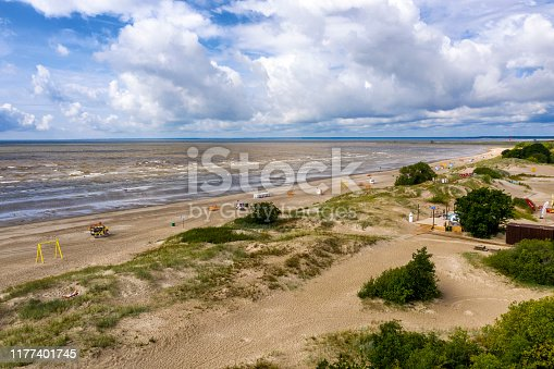 aerial view of jurmala beach in Latvia