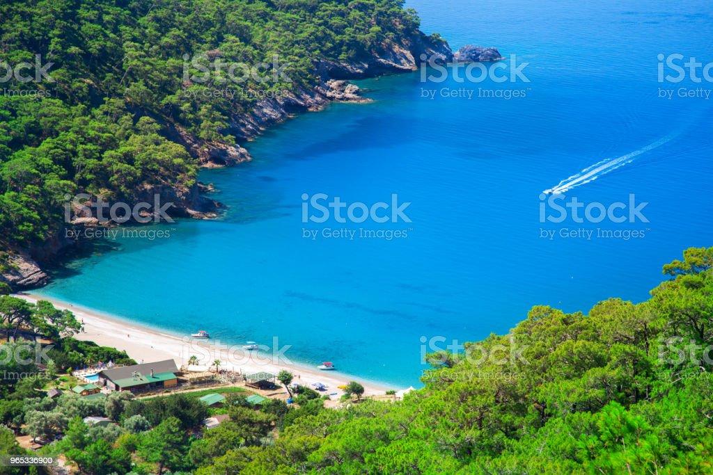 aerial view of Kabak beach in Turkey royalty-free stock photo