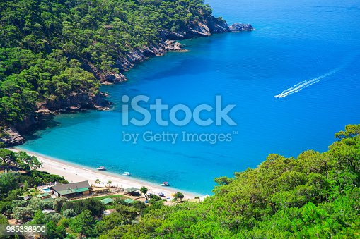 Aerial View Of Kabak Beach In Turkey Stock Photo & More Pictures of Asia