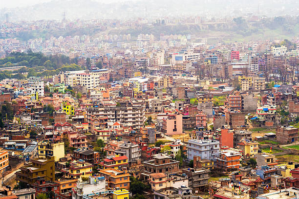 Aerial View of Kathmandu City, Nepal Aerial view of Kathmandu City, Nepal. developing countries stock pictures, royalty-free photos & images