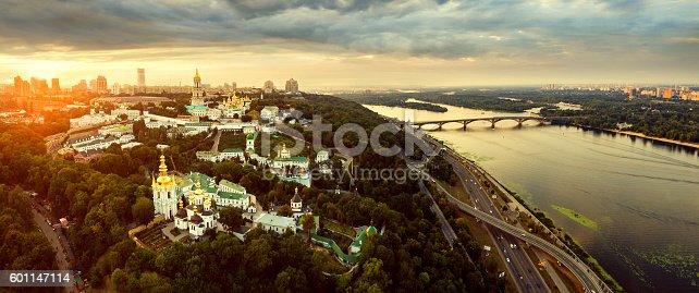 istock Aerial view of Kiev-Pechersk Lavra monastery, Ukraine 601147114