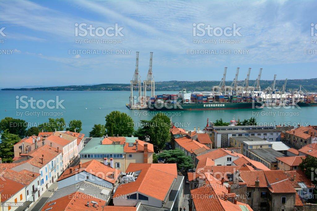 Aerial View of Koper stock photo