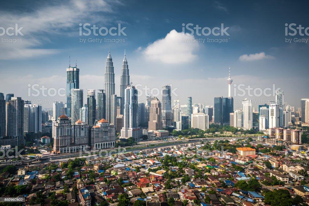 Aerial View of Kuala Lumpur Skyline stock photo