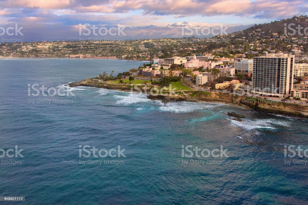 Aerial View Of La Jolla, San Diego, California stock photo