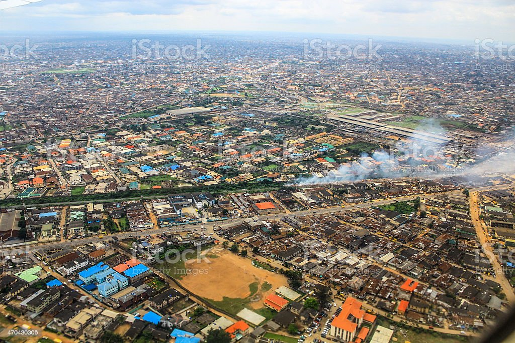 Aerial View of Lagos, Nigeria stock photo