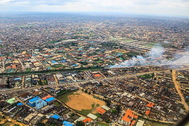 Aerial View of Lagos, Nigeria stock photo