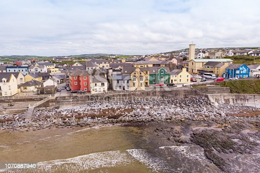 Lahinch or Lehinch is a small town on Liscannor Bay, on the northwest coast of County Clare, Ireland. The town is a seaside resort and has become a popular surfing location.