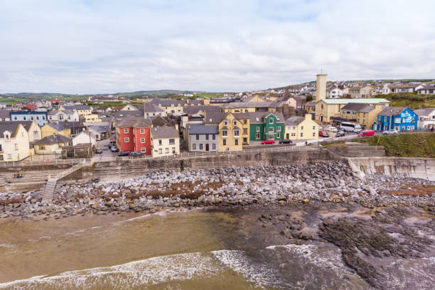 aerial view of lahinch - county clare stock pictures, royalty-free photos & images
