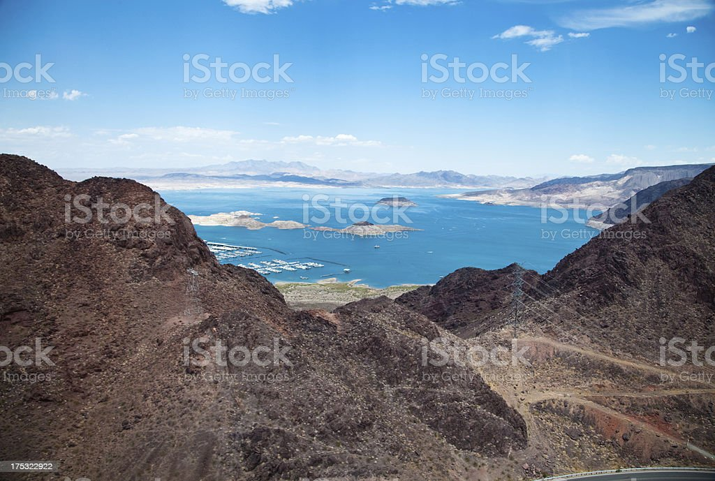 Aerial view of Lake Meed royalty-free stock photo
