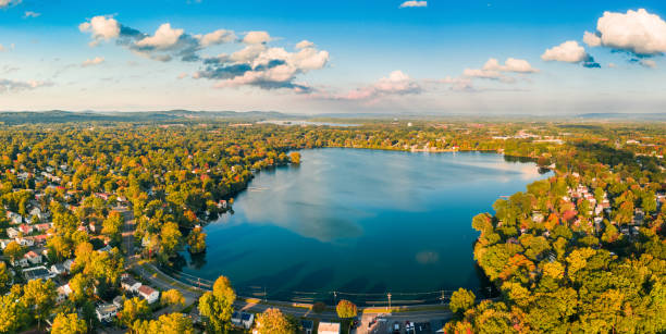 Aerial view of Lake Parsippany,