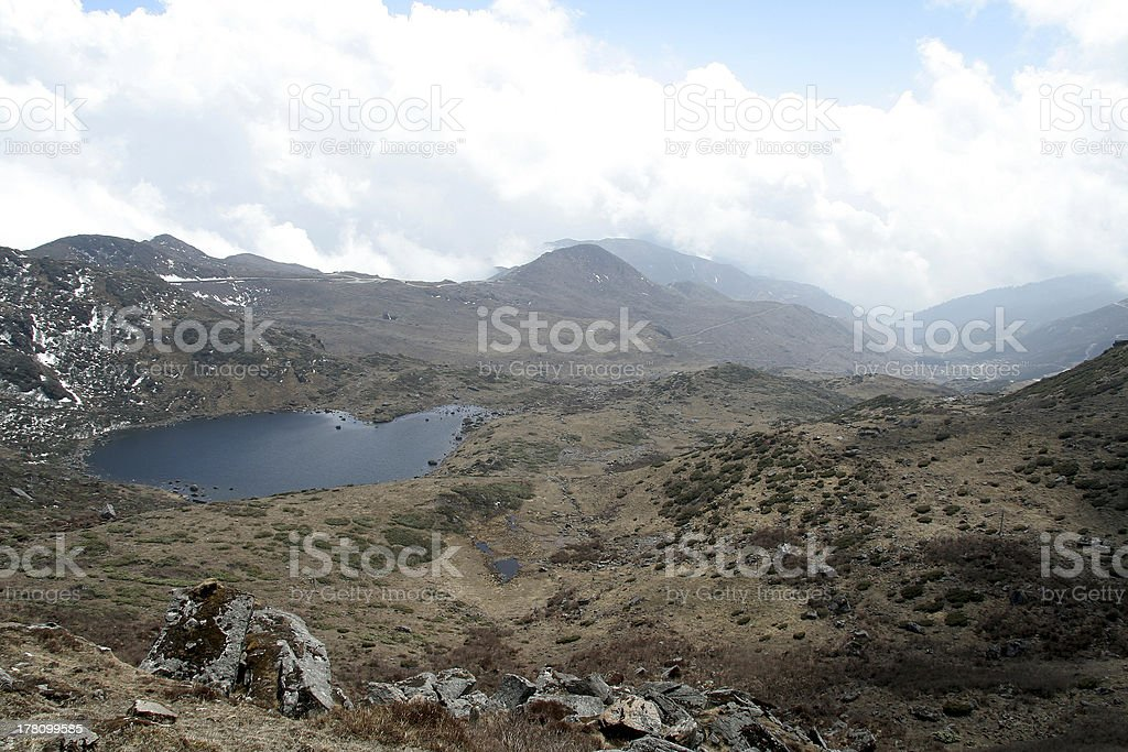 Aerial View of Lake royalty-free stock photo