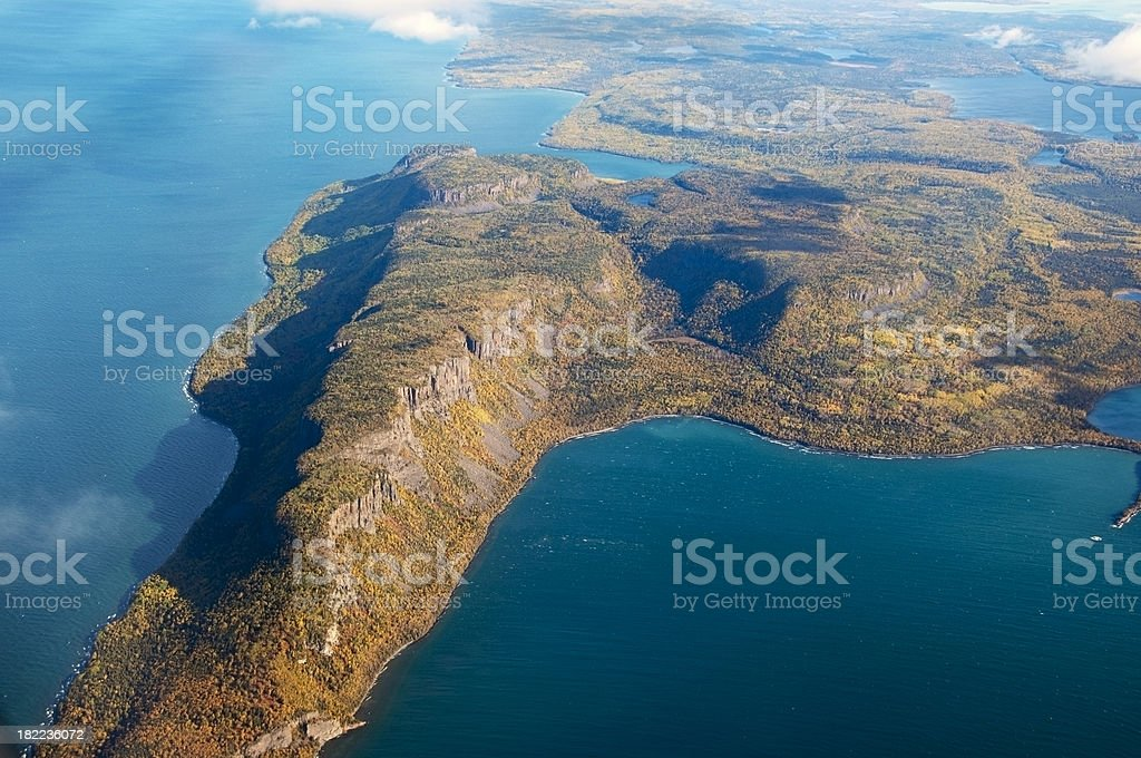 Aerial View Of Land Mass royalty-free stock photo