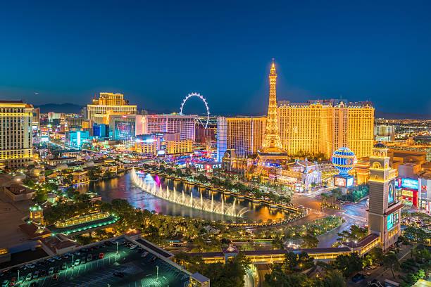 Aerial view of Las Vegas strip in Nevada - foto de acervo