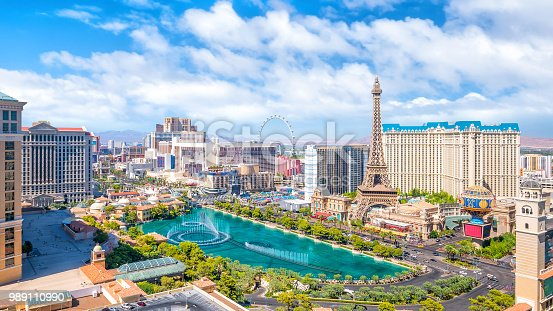 LAS VEGAS, USA - JULY 14 : World famous Vegas Strip in Las Vegas, Nevada on July 14, 2016 in Las Vegas, USA