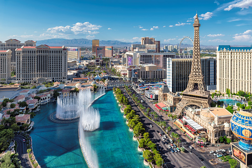 Aerial View Of Las Vegas Strip Stock Photo - Download Image Now