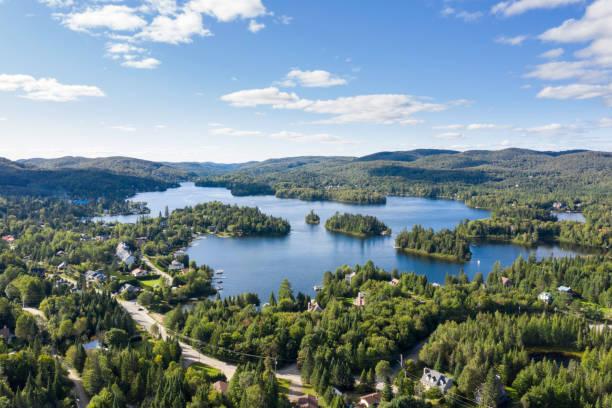 Luftaufnahme der Laurenziana ist Landschaft, Quebec, Kanada – Foto