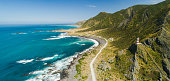 Cape Palliser, Panoramic view on a sunny day North Island, New Zealand.