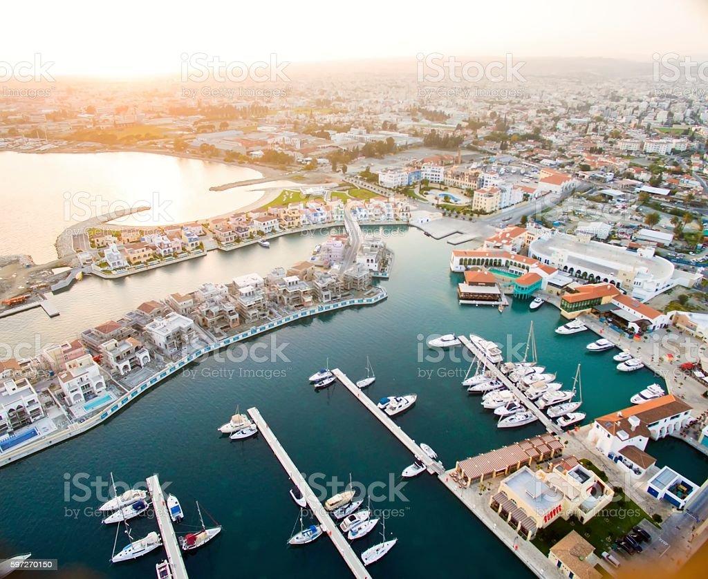 Marina Luftaufnahme von Limassol, Zypern Lizenzfreies stock-foto
