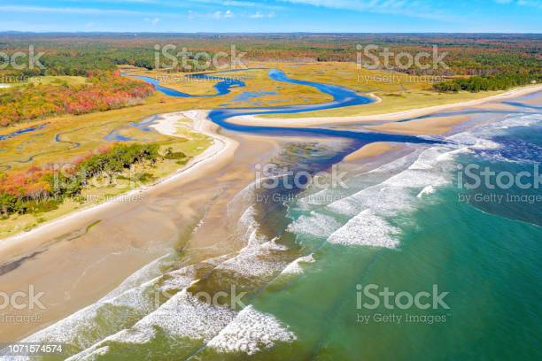 Photo of Aerial view of Little River estuary