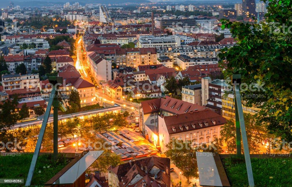 류블랴나의 항공 보기 - 로열티 프리 0명 스톡 사진