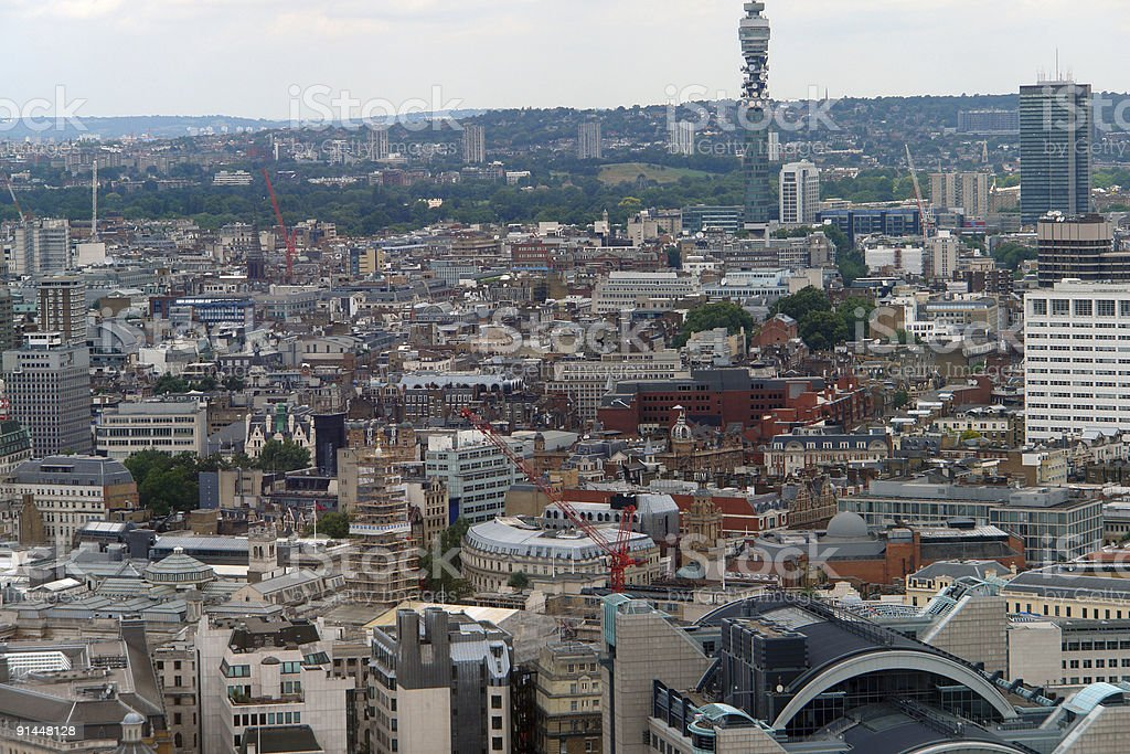 aerial view of London City royalty-free stock photo