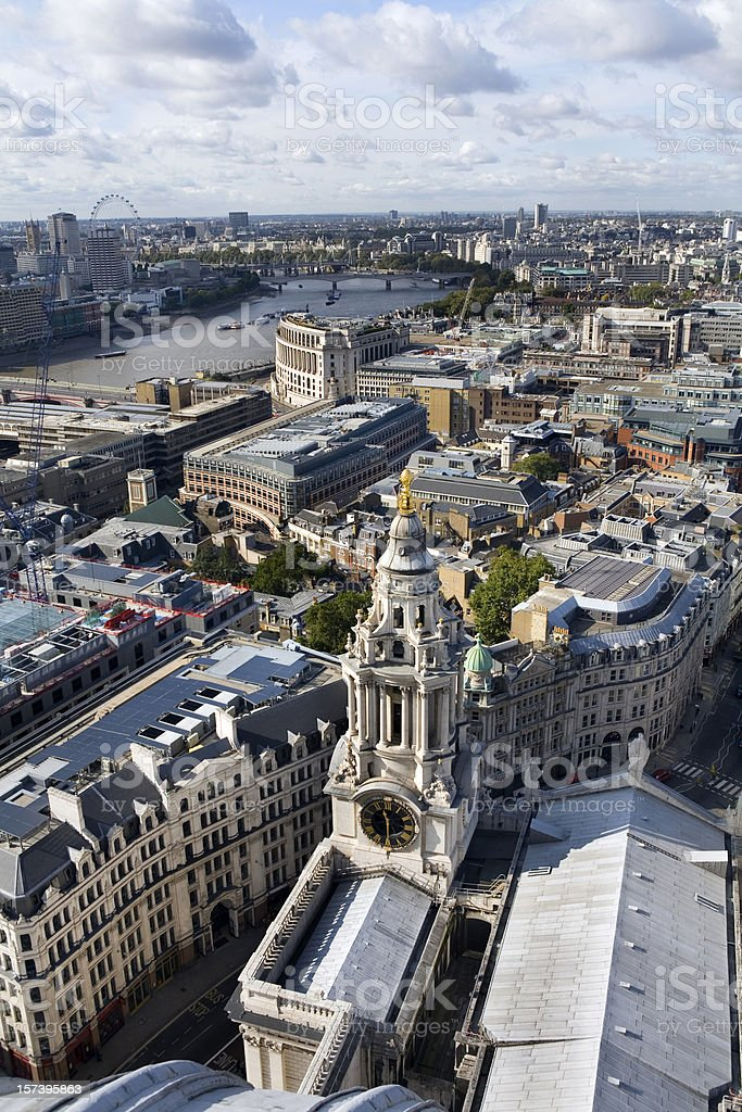 Aerial View of London England royalty-free stock photo