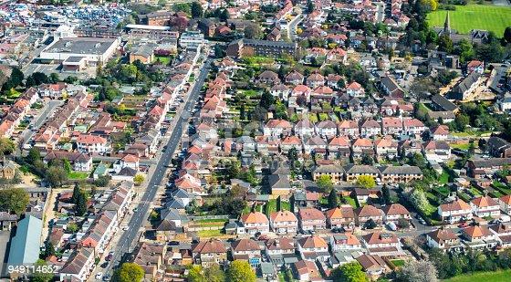 istock Aerial View of London Suburban Housing 949114652