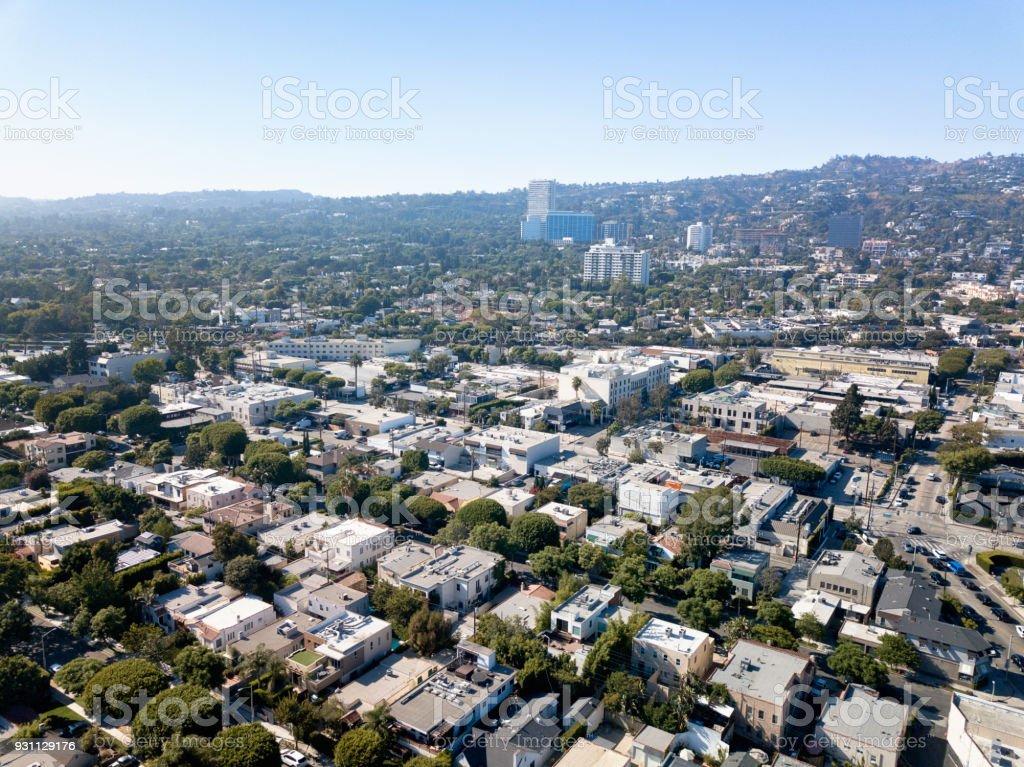 Los Angeles'ın havadan görünümü - Royalty-free ABD Stok görsel