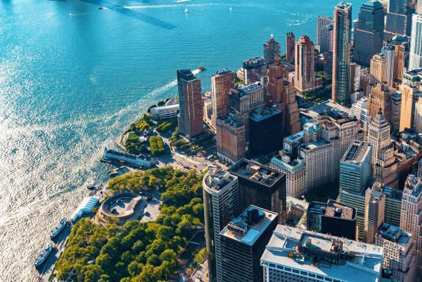 Luftaufnahme von Lower Manhattan New York – Foto