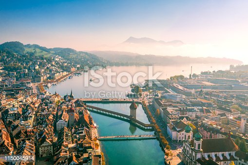istock aerial view of Lucerne old town 1150045914