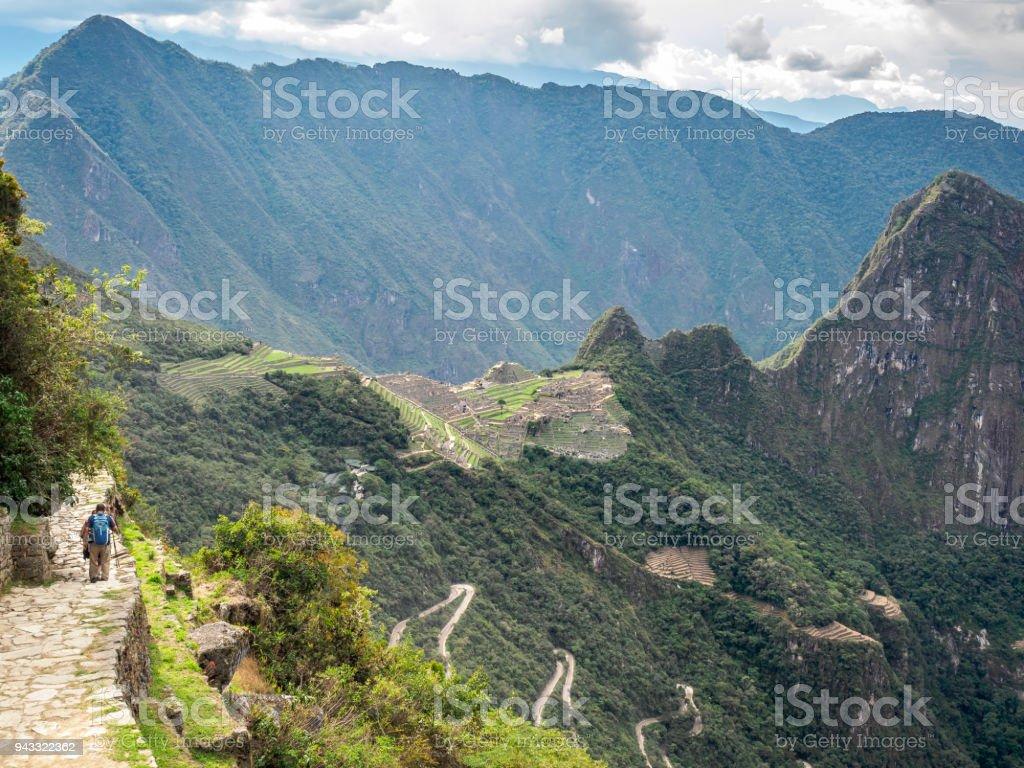 Luftaufnahme von Machu Picchu von Sonnentor in Inka-Trail - Peru – Foto