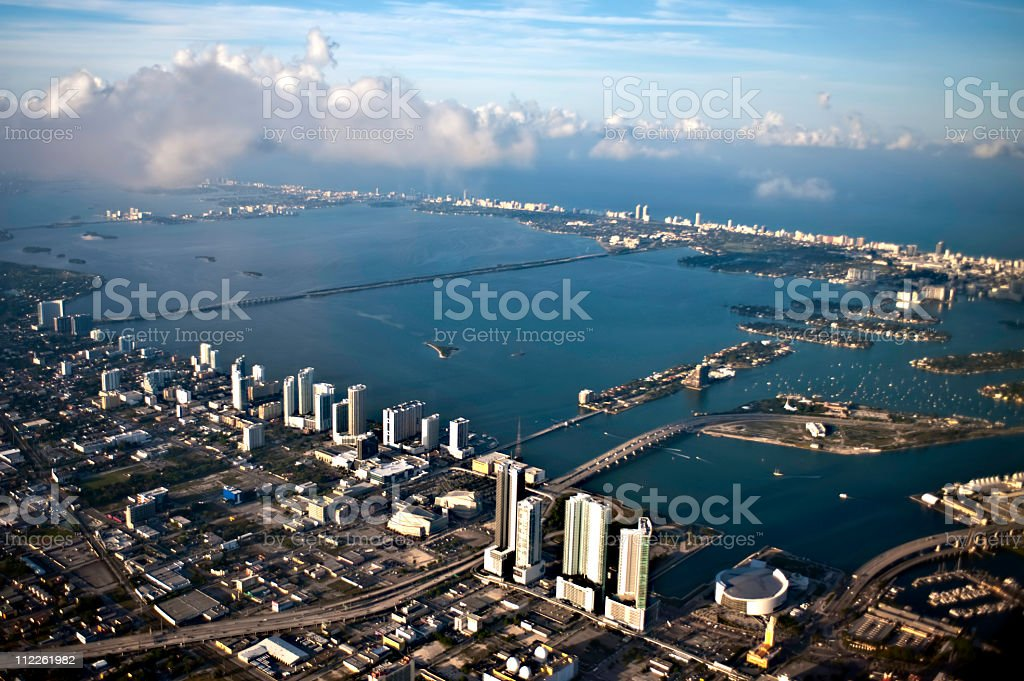 Aerial view of Maimi Florida royalty-free stock photo