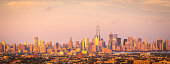 istock Aerial View of Majestic New York Skyline 607904152