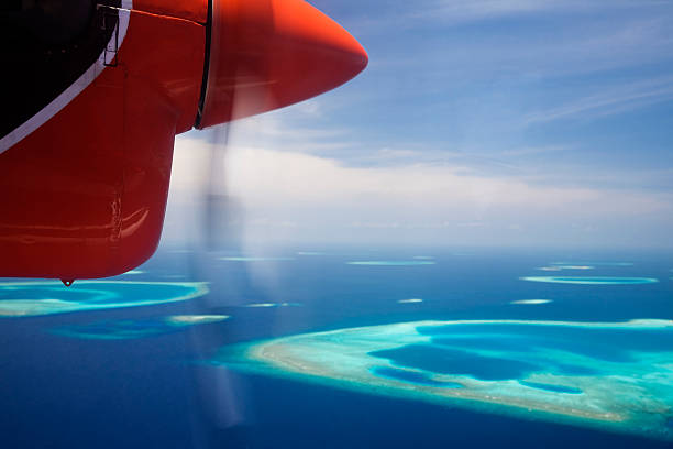 Luftbild von maledivische Inseln – Foto