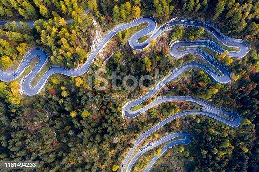 istock Aerial View of Maloja Pass in Swiss Alps 1181494233